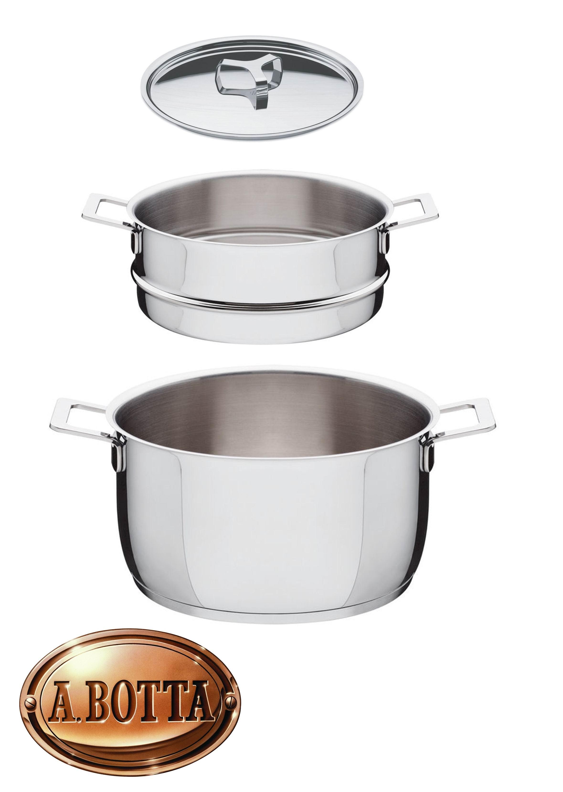 Set Pentole 3 Pezzi per Cottura al Vapore ALESSI AJM307SET Pots&Pans